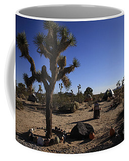 Camping In The Desert Coffee Mug by Nina Prommer