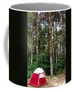 Campsite Near Holland State Park Coffee Mug