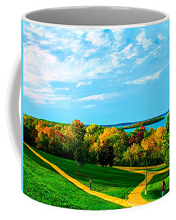 Coffee Mug featuring the photograph Campus Fall Colors by Zafer Gurel