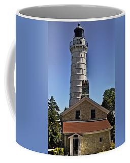 Coffee Mug featuring the photograph Cana Island Lighthouse by Deborah Klubertanz