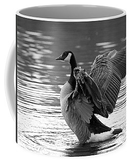 Canada Goose Black And White Coffee Mug by Sharon Talson