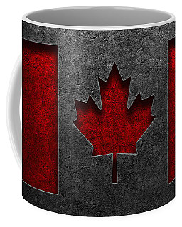 Canadian Flag Stone Texture Coffee Mug