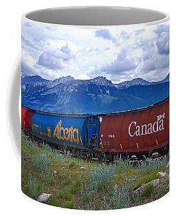 Canadian Freight Train In Jasper #2 Coffee Mug