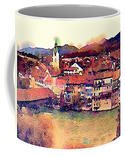 Coffee Mug featuring the photograph Canal At Thurgau by Susan Maxwell Schmidt