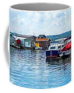 Canandaigua Fishing Shacks Coffee Mug