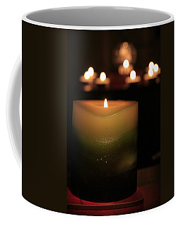Coffee Mug featuring the photograph Candle Light by Susan Leonard