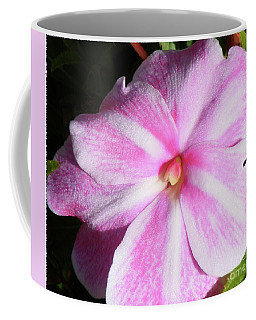 Coffee Mug featuring the photograph Candy Cane Impatiens by Barbara Griffin