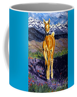 Candy Rocky Mountain Palomino Colt Coffee Mug