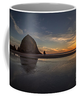 Cannon Beach Dusk Conclusion Coffee Mug by Mike Reid