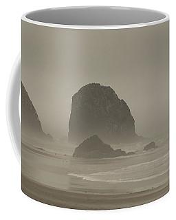 Cannon Beach In A Fog Oregon Coffee Mug