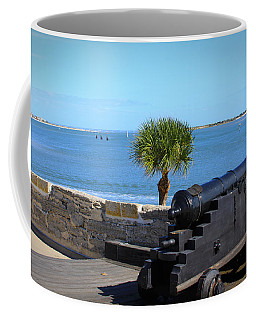 Cannon Of Castillo De San Marcos Coffee Mug by Chris Thomas