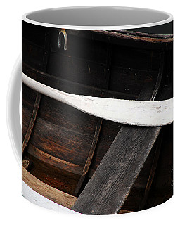 Coffee Mug featuring the photograph Canoe And Oar by Mary Carol Story