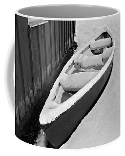 Canoe In The Snow Coffee Mug