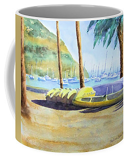 Canoes And Surfboards In The Morning Light - Catalina Coffee Mug