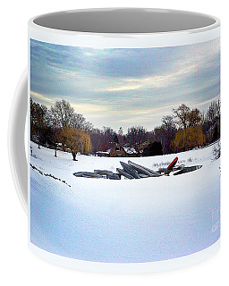 Canoes In The Snow Coffee Mug