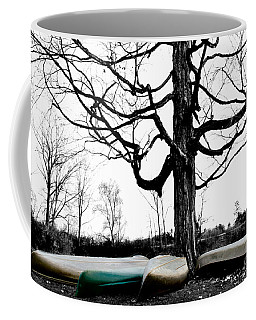 Canoes In Winter Coffee Mug