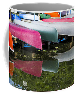 canoes - Lake Wingra - Madison  Coffee Mug by Steven Ralser