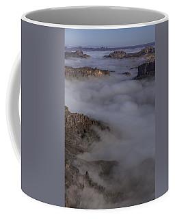 Canyon Rims Float In Fog Coffee Mug