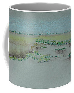 Coffee Mug featuring the pastel Canyon View by Michele Myers