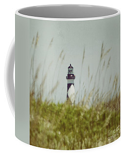 Coffee Mug featuring the photograph Cape Lookout Lighthouse - Vintage by Kerri Farley