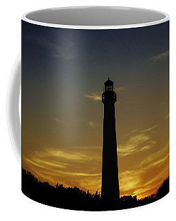 Cape May Lighthouse At Sunset Coffee Mug by Ed Sweeney