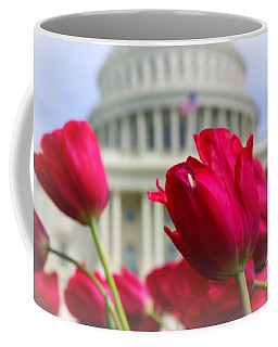 Coffee Mug featuring the photograph Capital Flowers  by John S