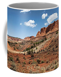 Coffee Mug featuring the photograph Capitol Reef Panorama No. 1 by Tammy Wetzel
