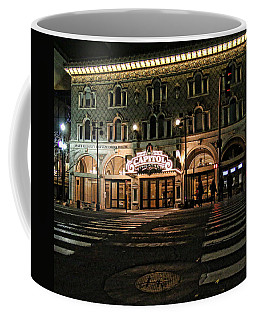 Coffee Mug featuring the photograph Capitol Theatre by Ely Arsha