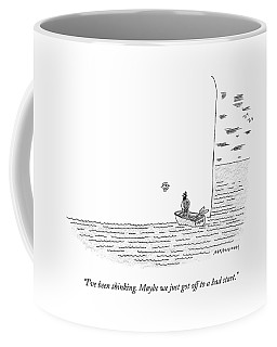 Captain Ahab Rows A Small Boat Right Up To Moby Coffee Mug