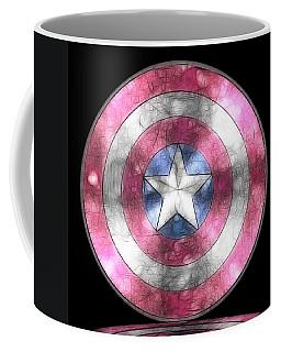 Captain America Shield Digital Painting Coffee Mug