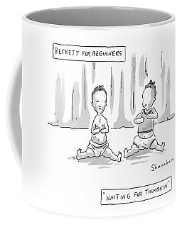 Captionless: Beckett For Beginners: Waiting Coffee Mug