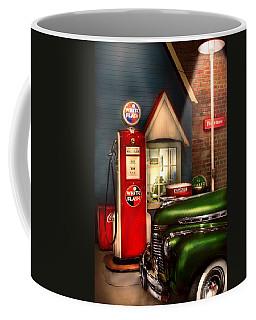 Car - Station - White Flash Gasoline Coffee Mug