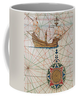 Caravel In Ocean Coffee Mug