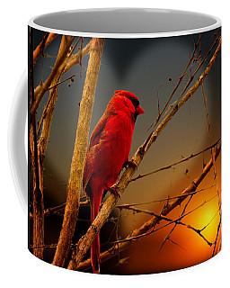 Cardinal At Sunset Valentine Coffee Mug
