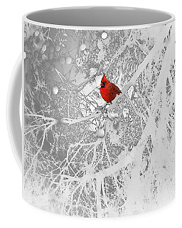 Cardinal In Winter Coffee Mug