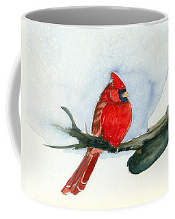 Coffee Mug featuring the painting Cardinal by Katherine Miller