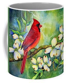 Cardinal On Dogwood Coffee Mug