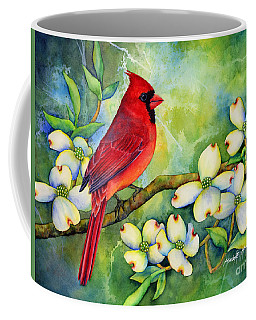 Cardinal On Dogwood Coffee Mug