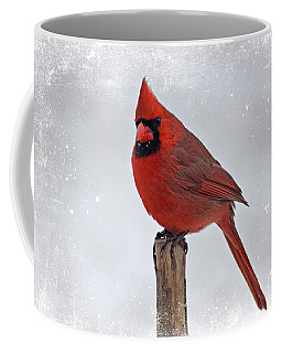Cardinal Perching Coffee Mug