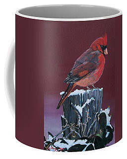 Cardinal Winter Songbird Coffee Mug
