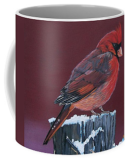 Cardinal Winter Songbird Coffee Mug