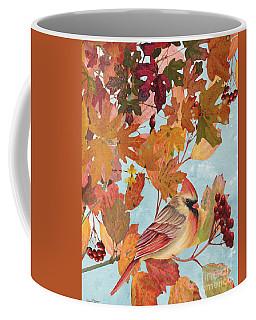 Cardinals In The Fall-female Coffee Mug