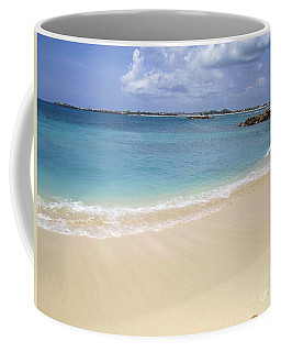Coffee Mug featuring the photograph Caribbean Beach Front by Fiona Kennard