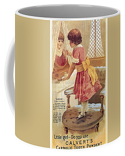 Coffee Mug featuring the photograph Carlvert's Carbolic Tooth Powder Ad by Gianfranco Weiss