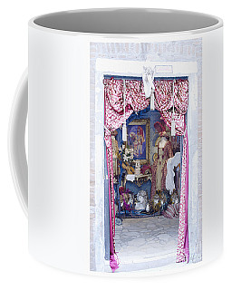 Coffee Mug featuring the digital art Carnevale Shop In Venice Italy by Victoria Harrington