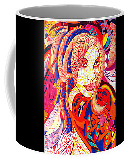 Coffee Mug featuring the drawing Carnival Girl by Danielle R T Haney