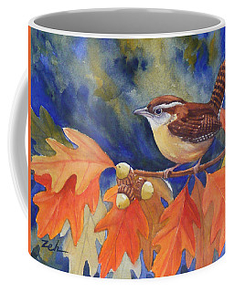Carolina Wren In Autumn Coffee Mug