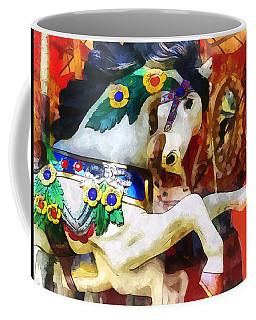 Carousel Horse Closeup Coffee Mug