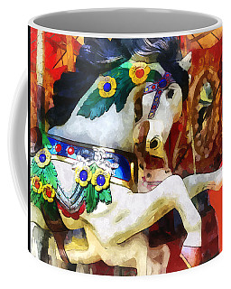 Carousel Horse Closeup Coffee Mug