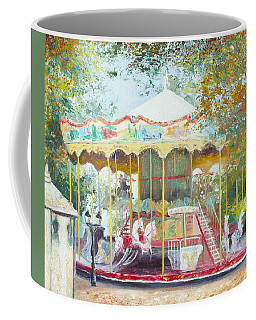 Carousel In Montmartre Paris Coffee Mug by Jan Matson
